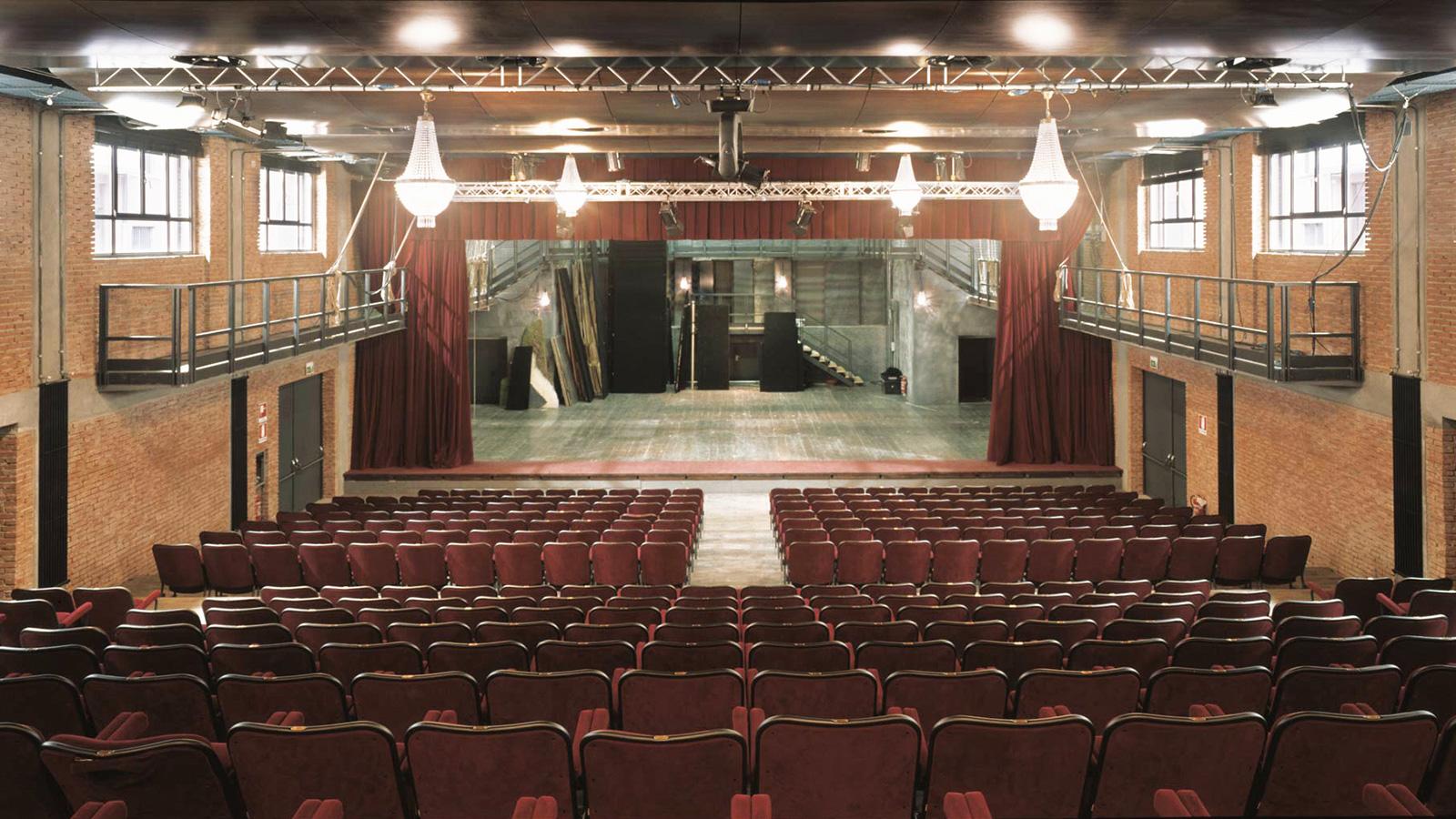 Il palco della Sala Grande