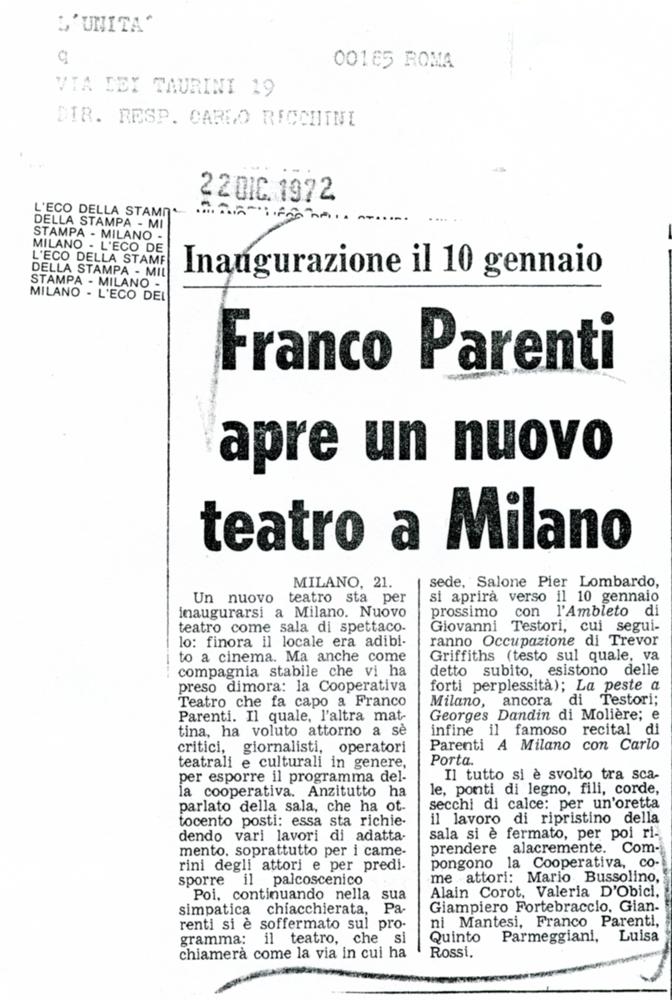 L'unità, 20 dicembre 1972